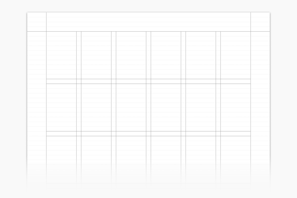 A typical grid used in a print document.