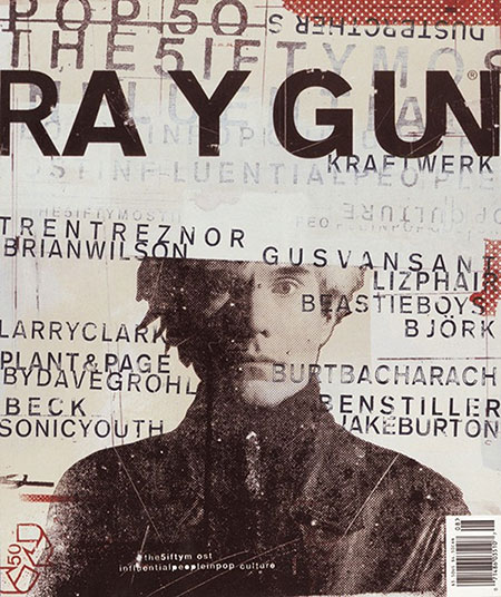 A David Carson design for Ray Gun magazine.